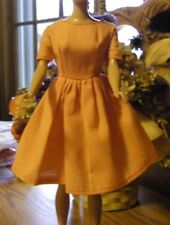 Vintage Barbie Clone or Mommy Made Orange House Dress fits Babs Suzette Elite Sz