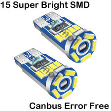 2Ps For Ford Galaxy MK2 15-SMD LED Error Free Canbus Side Light Part White Bulbs