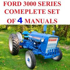 Ford 3000 Series Tractors SERVICE, PARTS Catalog OWNERS Manual 4 MANUALS  ON CD