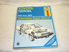 1987-1994 Toyota Tercel Haynes Automobile Repair Manual for All Gas Engines
