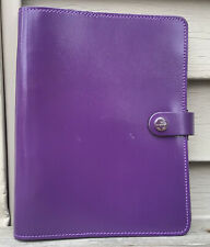 Filofax The Original Organizer Patent Purple Leather A5 Made In The Uk 022441