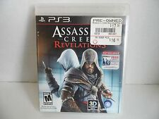 Assassins Creed Revelations Sony PlayStation 3 2011 PS3 Game Complete Manual