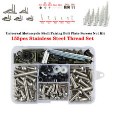 155xMotorcycle Shell Fairing Bolt Plate Screws Nut Hardware Kit Stainless Thread