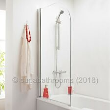180° Pivot Curved 6mm Glass Over Bath Shower Panel