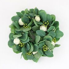 ARTIFICIAL EUCALYPTUS AND FLOWER WREATH // WALL TABEL DECORATION CHRISTMAS