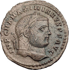 MAXIMIAN  297AD Big Follis Authentic Genuine Ancient Roman Coin Genius i63585