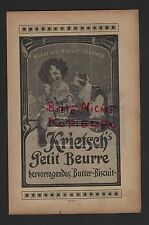 Wurzen, advertising 1910, wurzener Biscuit factories krietsch's Petit Beurre Biscuit