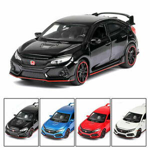 1/32 Honda Civic Type R Alloy Model Car Diecast Toy Collection Sound&Light Gift