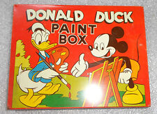 fine old Donald Duck tin  litho paint box Mickey Mouse graphic