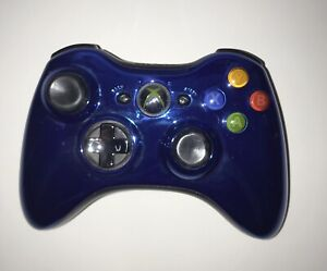 Official OEM Microsoft Xbox 360 Chrome Series Metallic Blue Controller