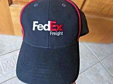FedEx Freight Hat Cotton Ball cap Baseball hat black & gray red white Fed Ex