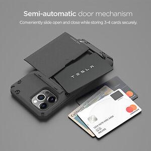 For Apple iPhone 12 / Pro /Max Case VRS® [DamdaGlide Pro] SandStone Wallet Cover