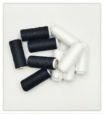 Lot of 30 PC 100% Polyester Sewing Thread Black & White 200 Yards Each