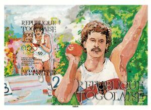Togo 1984 Scott# C509 - Olympics Decathlon, Sport - Imperf Souvenir Sheet - MNH