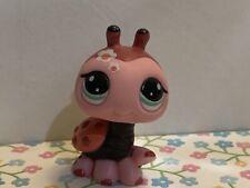 Littlest Pet Shop LPS Authentic 1859 Pink Red Ladybug Teal Eyes Blythe Pet