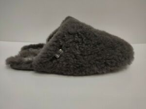 Ladies Ugg Fluff Clog Slippers, Grey Colour, UK Size 7