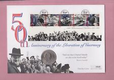 G.B. Coin Cover 1995, 50th anniversary of the liberation of Guernsey crown.