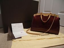 Authentic Louis Vuitton Vernis Brea MM Rouge Fauviste Shoulder Bag w/ receipt