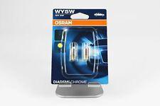 WY5W 5W Osram Indicator Parking Light Bulb x2 Chrome Diadem W2,1x9,5d