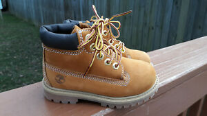 """TODDLERS BOYS TIMBERLAND PREMIUM 6"""" WHEAT SUEDE WATERPROOF BOOTS SIZE 8 12809"""