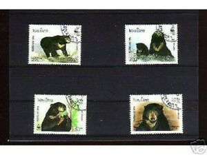 1047++LAOS   SERIE TIMBRES  OURS