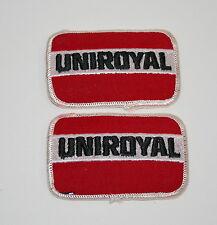 2 Vtg Uniroyal Tire & Rubber Tires Automotive Jacket Hat Patch 80s NOS New Blem