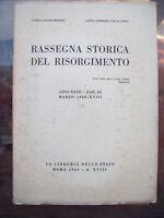 1940 RASSEGNA STORICA DEL RISORGIMENTO 1821 A VERCELLI REPUBBLICA DI GENOVA....