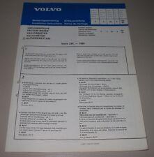 Einbauanleitung Volvo 240 Vacuum Meter Installation instructions Oktober 1980!