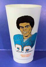 Marlin Briscoe Dolphins 1973 Vintage Nfl 7-11 Slurpee Cup Excellent Condition