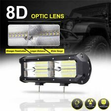"""LED7"""" 216W 21600LM 8D Work Light Bar Flood Driving Lamps For SUV ATV Offroad 4WD"""