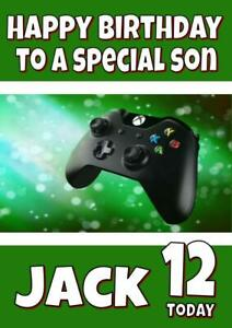 XBOX PERSONALISED BIRTHDAY CARD - ANY NAME, AGE, RELATION