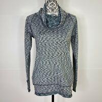 Active wear Sweatshirt Gray Size Small RBX Fleece Cowl Neck Womens