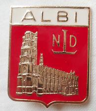 Insigne Religieux PELERINAGE ALBI A ND LOURDES ORIGINAL Catholic French Badge