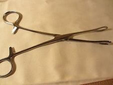 Clamps with a wide end, Surgical Steel, 7 inches