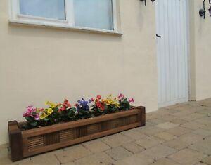 Deluxe Wooden Garden Timber Planter Pots - Trough Patio Window Box - Colours
