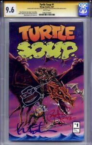 TURTLE SOUP #1 CGC 9.6 SS KEVIN EASTMAN, PETER LAIRD & STEVE LAVIGNE TMNT