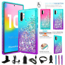 For Samsung Galaxy Note10/Note10 Plus Quicksand Liquid Glitter Hybrid Case Cover