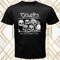 The Casualties Punk Rock Band Album Cover Men's Black T-Shirt Size S - 3XL