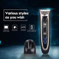 Professional Digital Hair Trimmer Rechargeable Electric Hair Clipper Men's