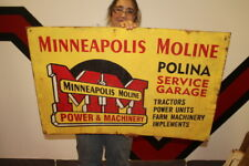 """Large Minneapolis Moline Tractors & Farm Machinery Gas Oil 36"""" Metal Sign"""