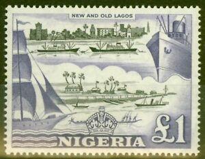 Nigeria 1953 £1 Black & Violet SG80 V.F Very Lightly Mtd Mint