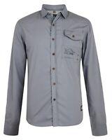 Smith /& Jones Men New Long Sleeve Slim Fit Shirts Plain Casual Small S Navy Blue