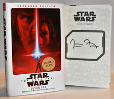 **SIGNED 1/1** The Last Jedi (Star Wars) AUTOGRAPHED by Jason Fry (NEW) hx