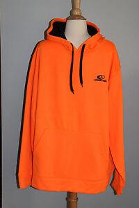 New MOSSY OAK Performance Pullover Hoodie Men's Size M or L Blaze Orange Hunting