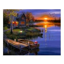 Beauty Sunset 5D Diamond DIY Painting Cross Stitch Craft Kit Home Wall Decor