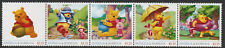 Antigua & Barbuda 8005 - UNISSUED DISNEY'S POOH BEAR  strip of 5 unmounted mint