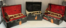 LOT OF 3 OLDS MARCHING MELLOPHONES