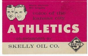 1960 Kansas City Athletics Baseball Pocket Schedule Skelly Oil