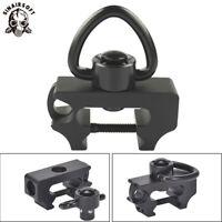 Quick Detach QD Tactical Sling Swivel Adapter w/ Picatinny 20 mm Rail mount BK