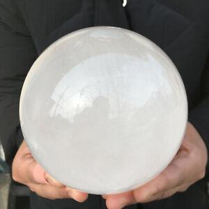 Natural clear white Quartz Sphere Crystal Ball Healing 2200g